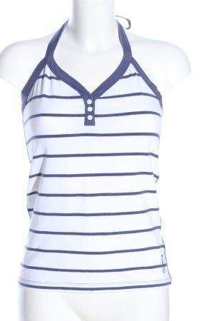Esprit Haltertop wit-blauw gestreept patroon casual uitstraling