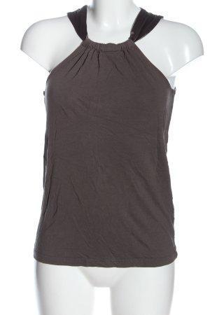 Esprit Top z dekoltem typu halter jasnoszary Melanżowy W stylu casual