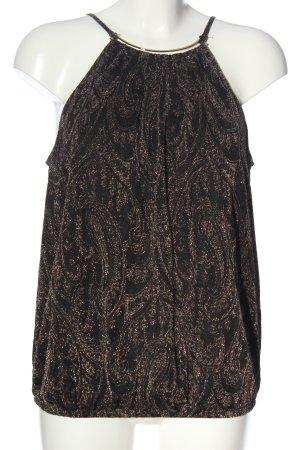 Esprit Top senza maniche nero-oro stile casual