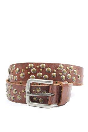 Esprit Cinturón de pinchos marrón look casual