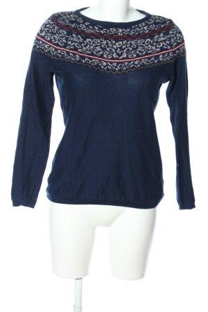 Esprit Maglione norvegese blu-bianco sporco modello misto stile casual