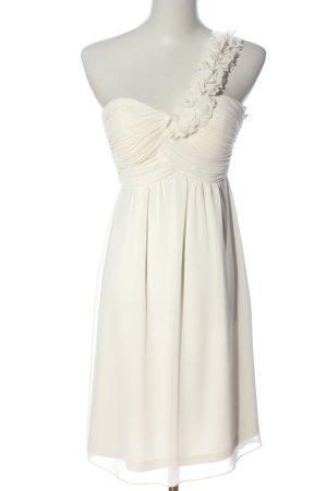 Esprit Vestido de un hombro blanco elegante