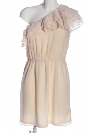 Esprit Vestido de un hombro crema elegante