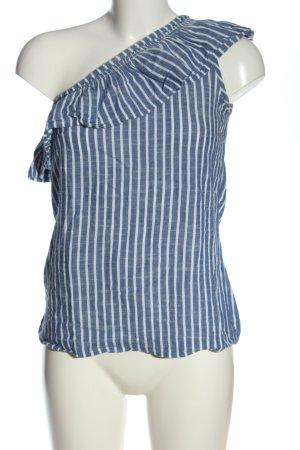 Esprit Eénschoudershirt blauw-wit volledige print casual uitstraling