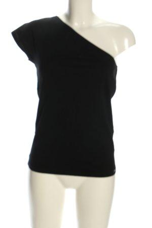 Esprit Haut avec une épaule dénudée noir style décontracté