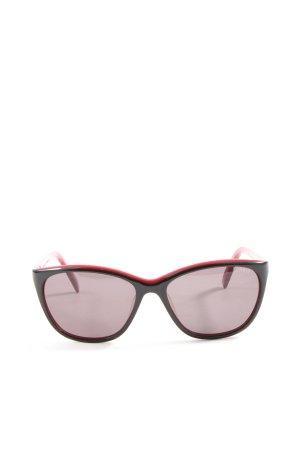 Esprit Occhiale da sole spigoloso nero-rosso stile casual