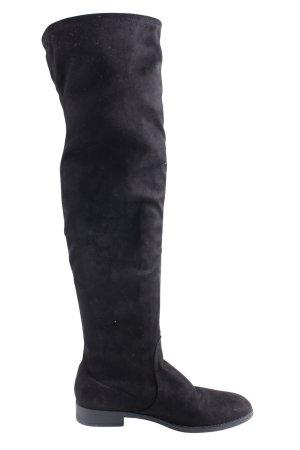 Esprit Botas sobre la rodilla negro look casual