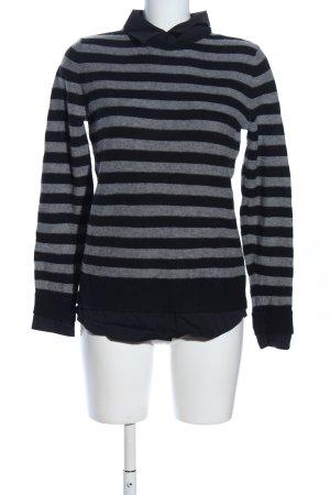 Esprit Oversized Pullover schwarz-hellgrau meliert Casual-Look