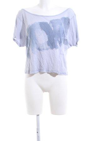 Esprit Oversized Shirt blau Schriftzug gedruckt Casual-Look