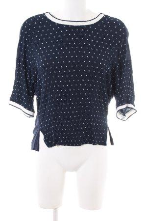 Esprit Camicia oversize blu-bianco stampa integrale stile casual