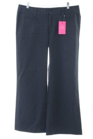 Esprit Pallazzohose schwarz-blau Streifenmuster klassischer Stil