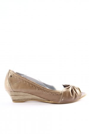 Esprit Peep Toe Ballerinas brown casual look