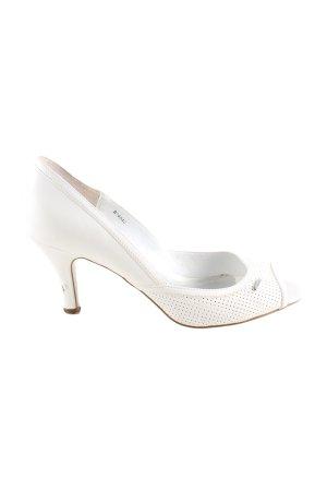 Esprit Tacones con punta abierta blanco puro look casual