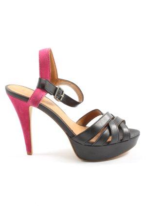 Esprit Peeptoe Pumps schwarz-pink Casual-Look