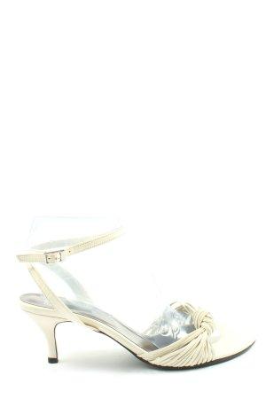Esprit Czółenka z odsłoniętym palcem w kolorze białej wełny W stylu casual