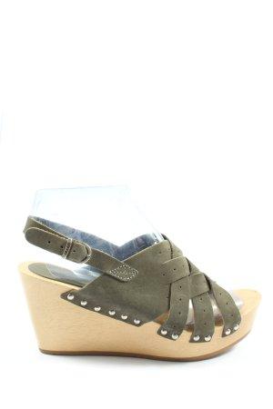 Esprit Platform Sandals khaki casual look