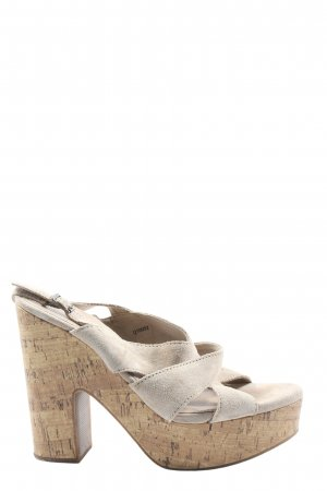 Esprit Strapped High-Heeled Sandals natural white casual look