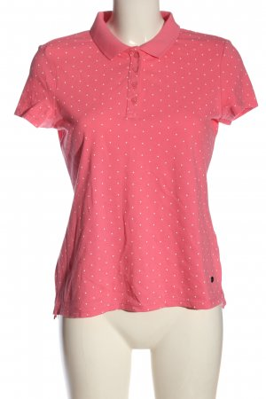 Esprit Polo Shirt pink-white spot pattern casual look