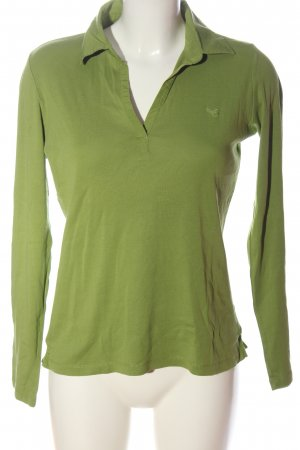 Esprit Polo Shirt green embroidered lettering casual look