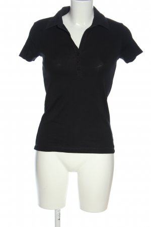 Esprit Camiseta tipo polo negro look casual