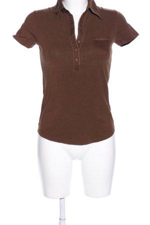 Esprit Polo marrone stile casual