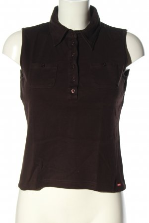 Esprit Polo Top braun Casual-Look