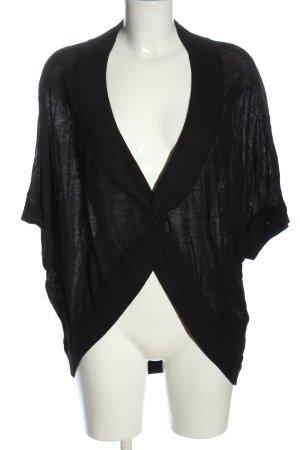 Esprit Cardigan à manches courtes noir moucheté style décontracté