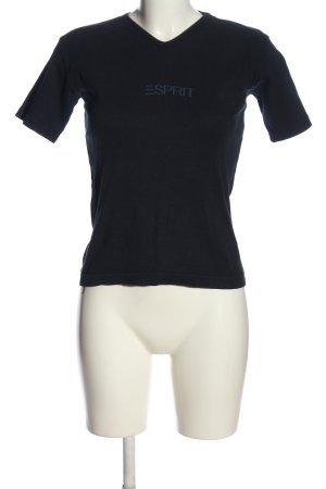 Esprit Print-Shirt schwarz Schriftzug gedruckt sportlicher Stil
