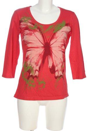 Esprit Print-Shirt rot-grün Motivdruck Casual-Look