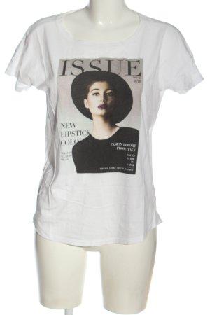 Esprit Print-Shirt weiß-schwarz Motivdruck Casual-Look