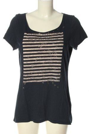 Esprit Print-Shirt blau-creme Motivdruck Casual-Look