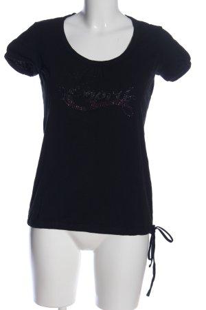 Esprit Print-Shirt blau Schriftzug gedruckt Casual-Look