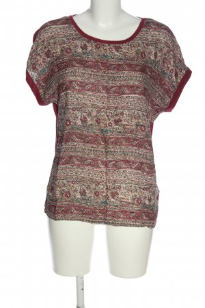 Esprit Print Shirt red-cream abstract pattern casual look