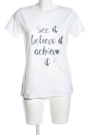 Esprit Print-Shirt weiß Schriftzug gedruckt Casual-Look
