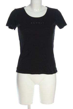 Esprit Print-Shirt schwarz Casual-Look