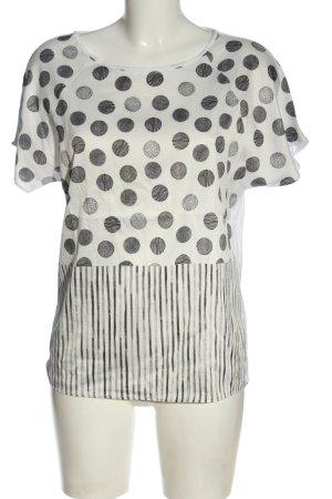 Esprit Print-Shirt weiß-hellgrau Punktemuster Casual-Look