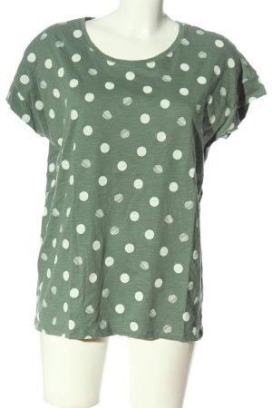 Esprit Print-Shirt khaki-weiß Allover-Druck Casual-Look
