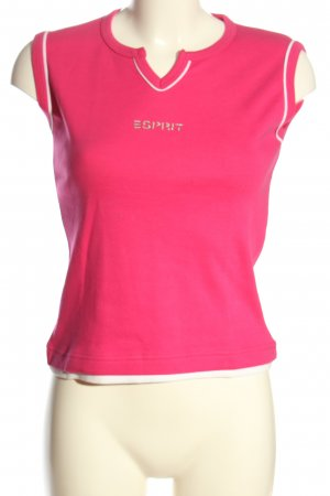 Esprit Print-Shirt pink Schriftzug gedruckt Casual-Look
