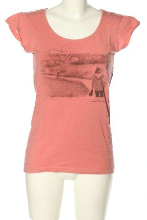 Esprit Print-Shirt pink-hellgrau Motivdruck Casual-Look