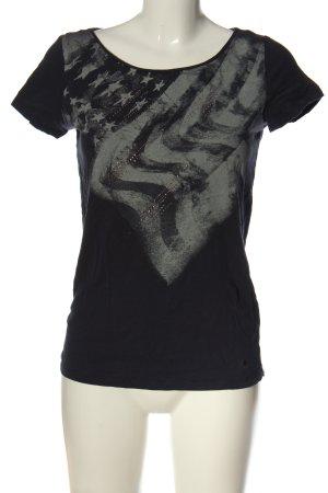 Esprit Print-Shirt schwarz-hellgrau Casual-Look