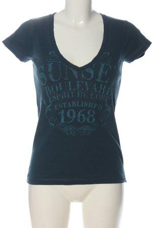 Esprit Print-Shirt blau Motivdruck Casual-Look
