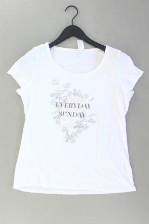 Esprit Printshirt Größe L Kurzarm weiß