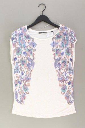 Esprit Printshirt Größe L neuwertig Kurzarm weiß aus Viskose