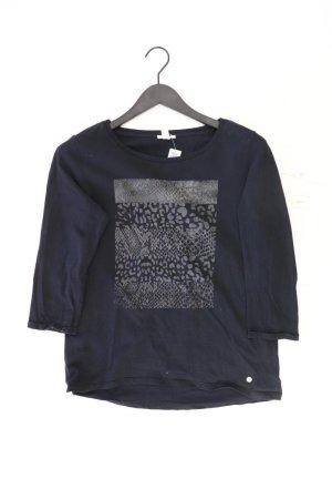 Esprit Printshirt Größe M mit Tierdruck 3/4 Ärmel schwarz aus Baumwolle