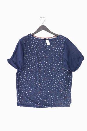 Esprit Printshirt Größe S Kurzarm blau aus Polyester
