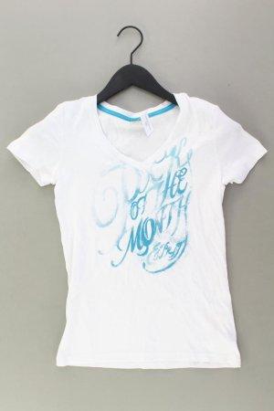 Esprit Printshirt Größe S Kurzarm weiß aus Baumwolle