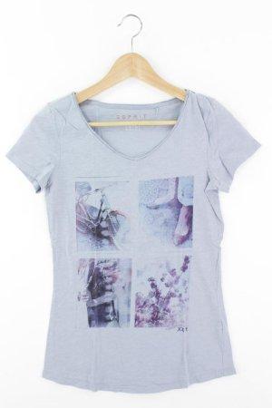 Esprit Printshirt Größe XS Kurzarm blau aus Baumwolle