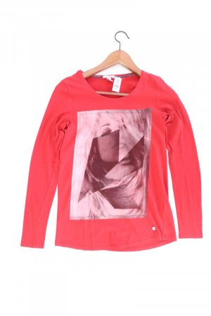Esprit Printshirt Größe XS Langarm rot aus Baumwolle