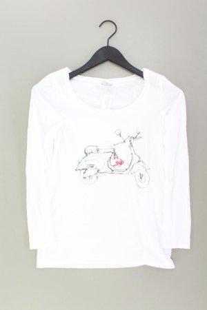 Esprit Printshirt Größe XS Langarm weiß aus Baumwolle