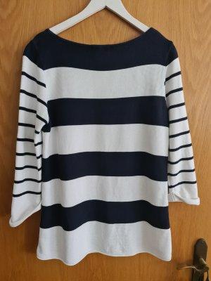 Edc Esprit Short Sleeve Sweater white-dark blue